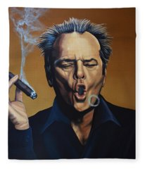 Jack Nicholson Painting Fleece Blanket