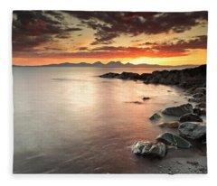 Jura Sunset Fleece Blanket