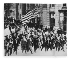 Lawrence Strike, 1912 Fleece Blanket