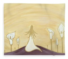 Lilies Of The Field Fleece Blanket