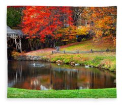 Mabry Mill Pano Fleece Blanket