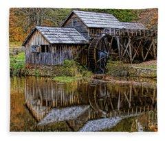 Mabry Mill Fleece Blanket