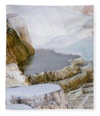 Mammoth Terraces Fleece Blanket