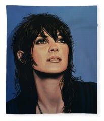 Marion Cotillard Fleece Blanket