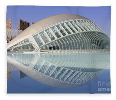 The Hemisferic In Valencia Spain Fleece Blanket
