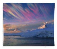 Mother Of Pearl Clouds Nacreous Clouds Fleece Blanket