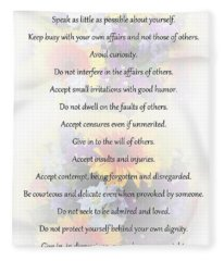 Mother Theresa's Rules For Humility Fleece Blanket