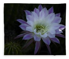 Night Blooming Cactus  Fleece Blanket