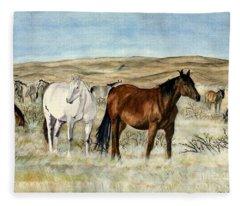 Nine Horses Fleece Blanket