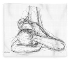 Nude Male Sketches 2 Fleece Blanket