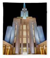 Oquirrh Mountain Temple 1 Fleece Blanket
