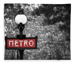 Paris Metro Fleece Blanket