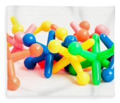 Plastic Toys Fleece Blanket