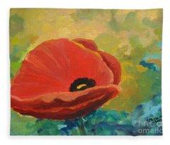 Poppy Fleece Blanket