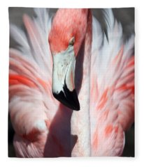 Pretty Flamingo Fleece Blanket