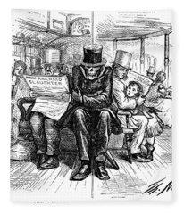 Railroad Accidents, 1871 Fleece Blanket
