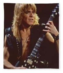 Randy Rhoads At The Cow Palace In San Francisco - 1st Concert Of The Diary Tour Fleece Blanket