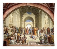 School Of Athens Fleece Blanket