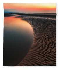 Seascape Sunset Fleece Blanket