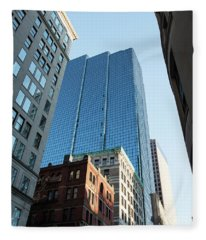 Skyscrapers In A City, Boston Fleece Blanket