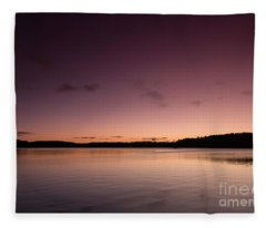 Sunrise On Lake Lanier Fleece Blanket