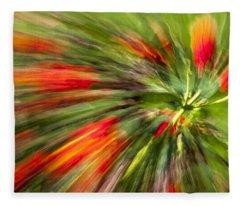 Swirl Of Red Fleece Blanket