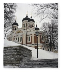 Tallinn Estonia Fleece Blanket