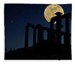 Temple Of Poseidon  Fleece Blanket