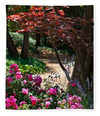 The Garden Path Fleece Blanket