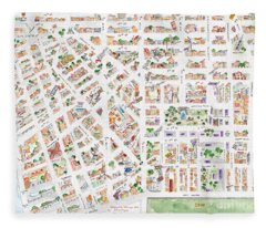 The Greenwich Village Map Fleece Blanket