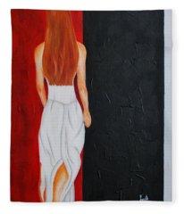 The Mystery Woman Fleece Blanket