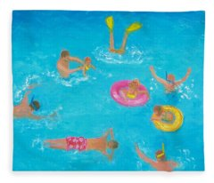 The Swimmers Fleece Blanket
