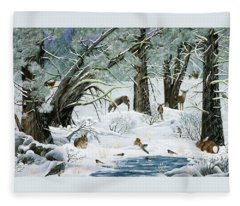 They Said It Wouldn't Snow Fleece Blanket