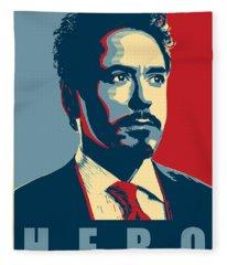 Tony Stark Fleece Blanket