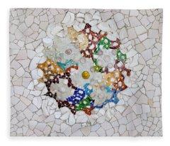 Trencadis Mosaic In Park Guell In Barcelona Fleece Blanket