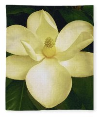 Vintage Magnolia Fleece Blanket