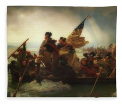 Washington Crossing The Delaware  Fleece Blanket