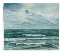 Waving Sea Fleece Blanket