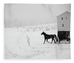 Winter Buggy Fleece Blanket