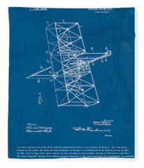 Wright Brothers Flying Machine Patent Fleece Blanket