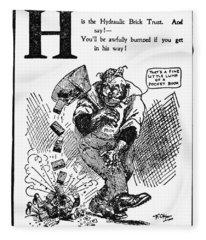 Anti-trust Cartoon, 1902 Fleece Blanket