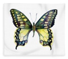 20 Old World Swallowtail Butterfly Fleece Blanket