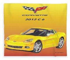 2012 C 6 Corvette Fleece Blanket