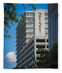 2121 Building Fleece Blanket