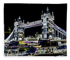 Tower Bridge Art Fleece Blanket