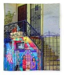 25 Balmy Alley San Francisco Fleece Blanket