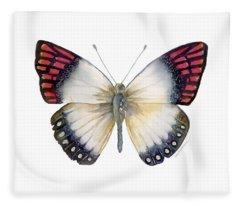 27 Magenta Tip Butterfly Fleece Blanket