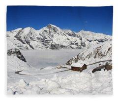Austrian Mountains Fleece Blanket
