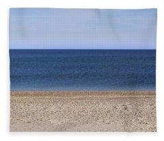 Color Bars Beach Scene Fleece Blanket