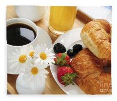 Breakfast  Fleece Blanket